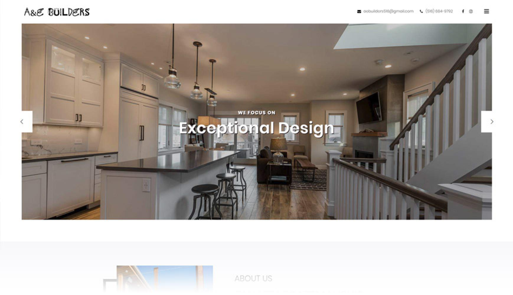 A&E Builders New Web Site